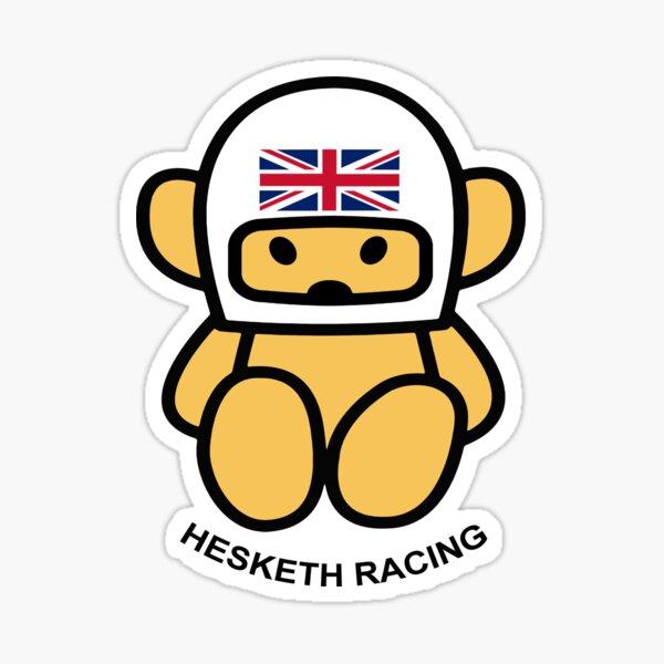 JAMES HUNT Casque Teddy Bear HESKETH RACING Blanc Sticker