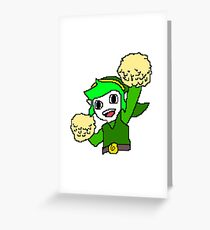 Legend of Zelda Pixelart - Pom pom Link 128x128 (Green) Greeting Card