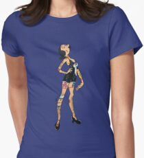 Pinup girl Olive Oil Original Artwork by WRTISTIK Womens Fitted T-Shirt
