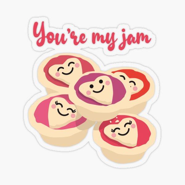 You're My Jam (Tarts) - Navy Transparent Sticker