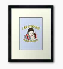 i am praying please be quiet! Framed Print