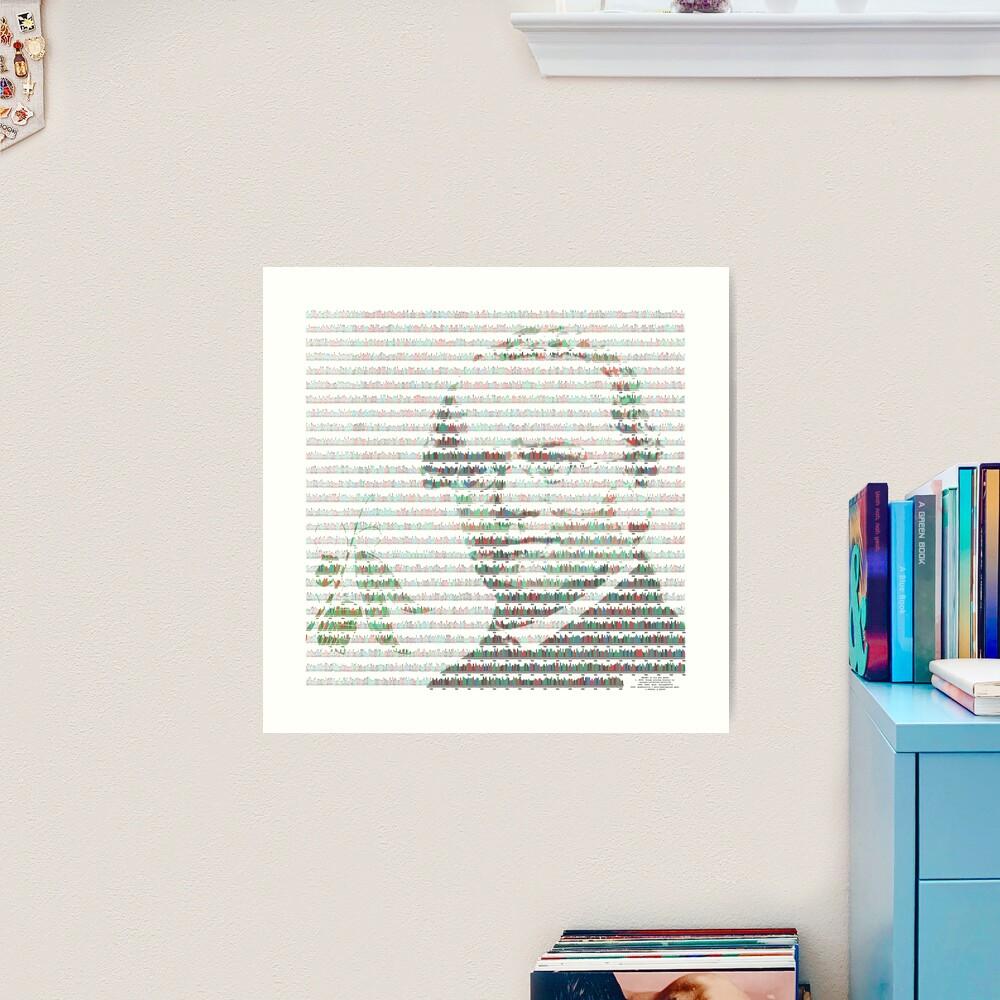 Mendel in his pea genes Art Print