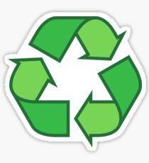 Recyclage des autocollants de symboles et des sacs fourre-tout, trois nuances de vert Sticker