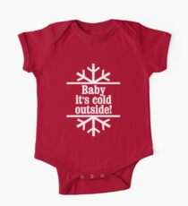 Baby It's Cold Outside art Short Sleeve Baby One-Piece