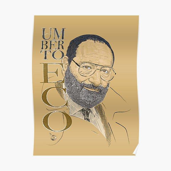 Canvas Umberto Eco at Work Art Print Poster