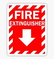 Fire Extinguisher Sign Sticker