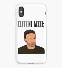 Sad Ben Affleck Cartoon iPhone Case/Skin