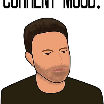 Sad Ben Affleck Cartoon by UzStore