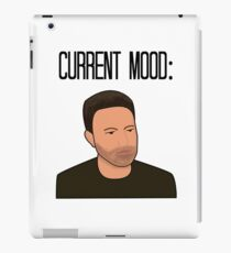 Sad Ben Affleck Cartoon iPad Case/Skin