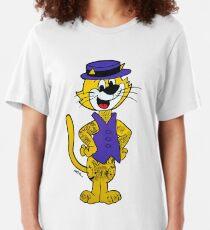 Top Cat inked up. Original artwork by WRTISTIK. Slim Fit T-Shirt