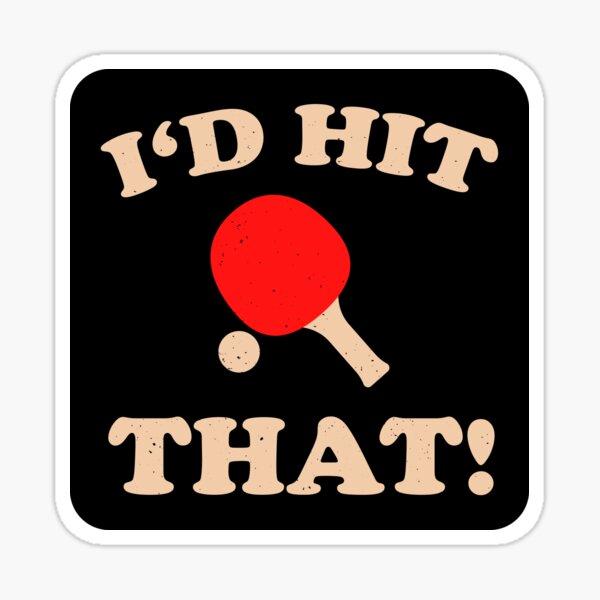 Lustiges Tischtennis Sticker