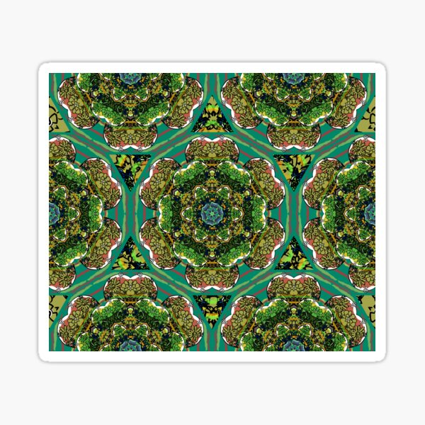 Green Terrarium Kaleidoscope Sticker