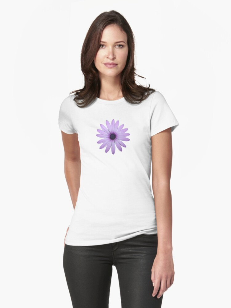 Mauve Flower Tee by KazM