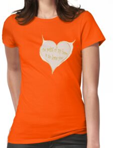 Hearty Greeting Womens Fitted T-Shirt