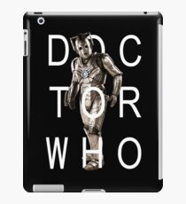 Doctor Who - Cyberman Title [Black] iPad Case/Skin