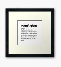 Non-Fiction Definition Framed Print