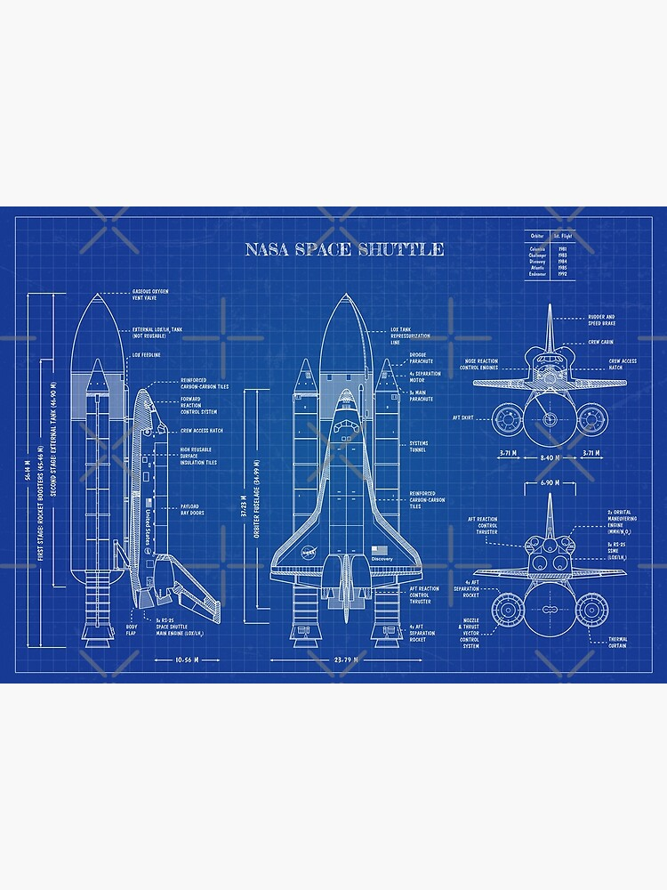 NASA Space Shuttle (Blueprint) by BGALAXY