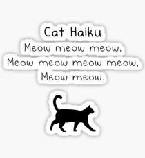 Cat Haiku Sticker