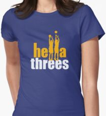 Hella Threes Women's Fitted T-Shirt