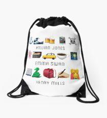 Jones Swan Emoji Drawstring Bag