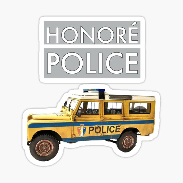 Honore Police BBC Death in Paradise Sticker