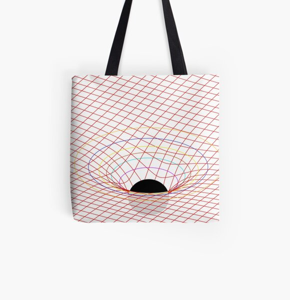 Induced Spacetime Curvature, General Relativity All Over Print Tote Bag