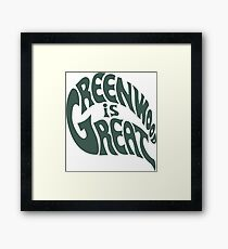 Greenwood Is Great Framed Print