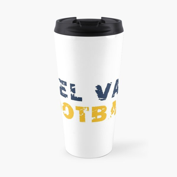 Del Val Football Distressed Travel Mug