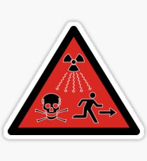 Radiation Source Symbol Sticker