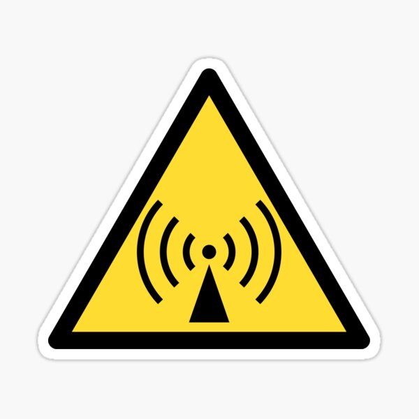 Non-ionizing radiation icon Sticker