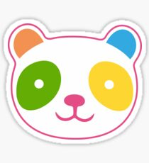 Cute Rainbow Panda Sticker