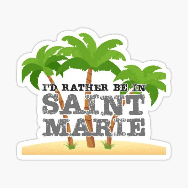 Saint Marie BBC Death in Paradise Sticker