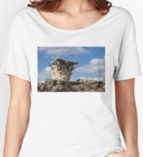 Ancient Pompeii Broken Treasures - Classical Corinthian Column Capital Left  Women's Relaxed Fit T-Shirt
