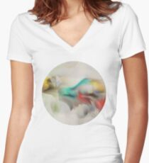 Something big landed in the tidal flats last night Women's Fitted V-Neck T-Shirt