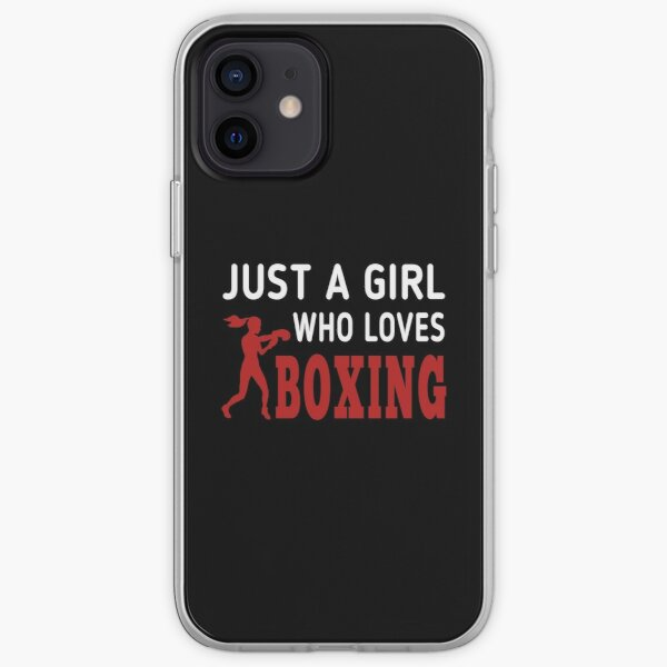 Just Girl Who Loves Boxing ,classic t-shirt  iPhone Soft Case