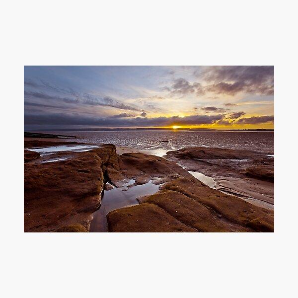 Red Rocks Beach sunset Photographic Print