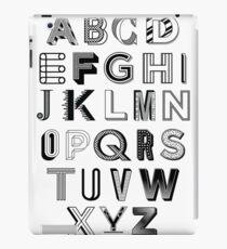 Monotype Alphabet iPad Case/Skin