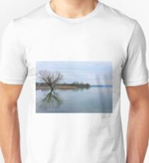 On reflection, it was a tranquil day - Borghetto, Lago Trasimeno, Umbria, Italy T-Shirt