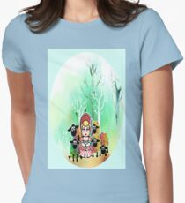 Bo Peep and her sheep momiji Womens Fitted T-Shirt