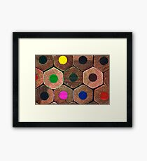 Coloured pencils  Framed Print