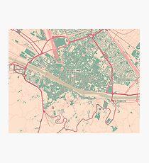 Firenze Map (Springtime) Photographic Print