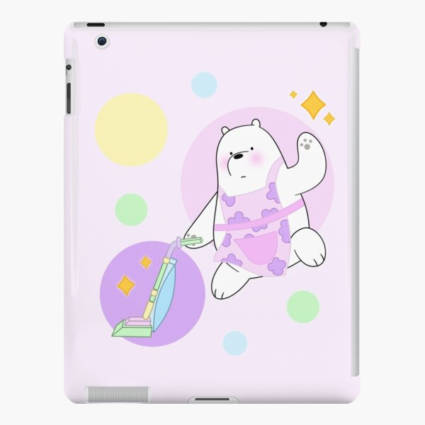 We Bare Bears - Ice Bear cleaning up in pastel colors iPad Snap Case