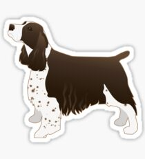 English Springer Spaniel Basic Breed Silhouette Sticker