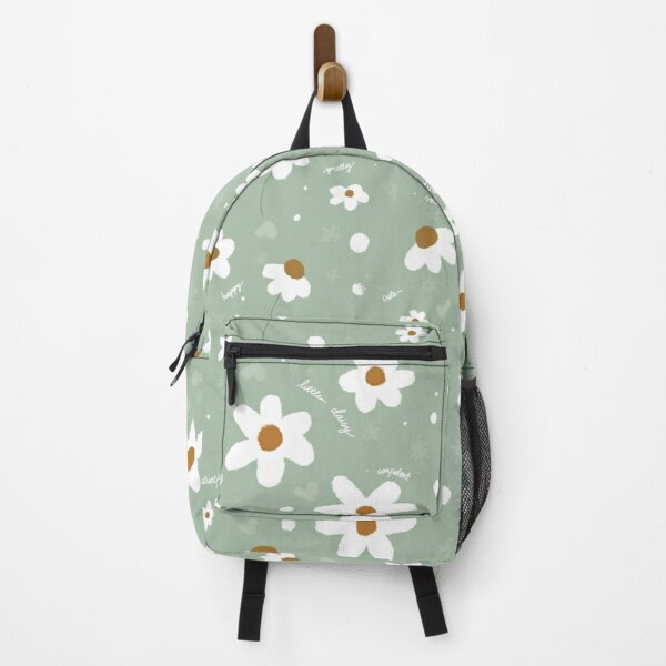 LITTLE DAISY FLOWER GIRL TURQUOISE PATTERN Backpack