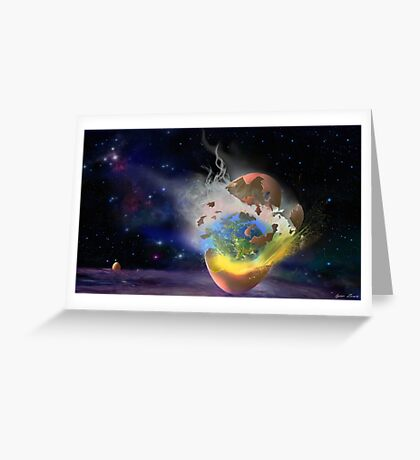 Cosmic Hatch Greeting Card