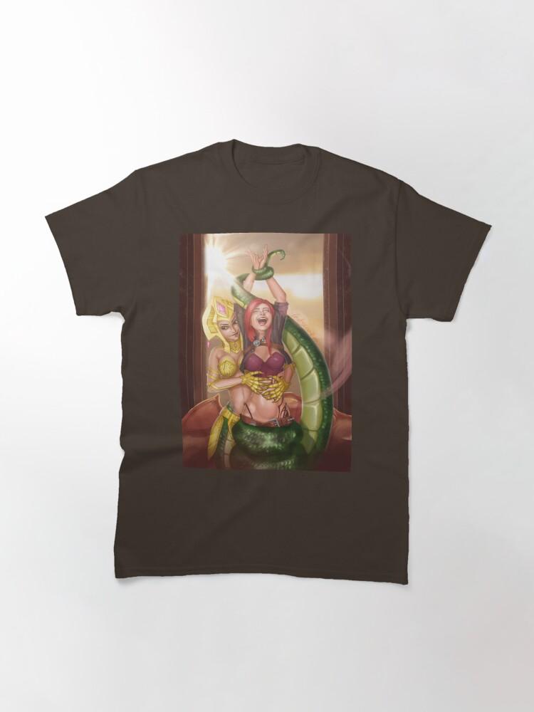 Alternate view of Lamia Warrior Tickling Classic T-Shirt