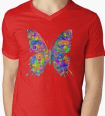 #DeepDream Motley Butterfly V-Neck T-Shirt