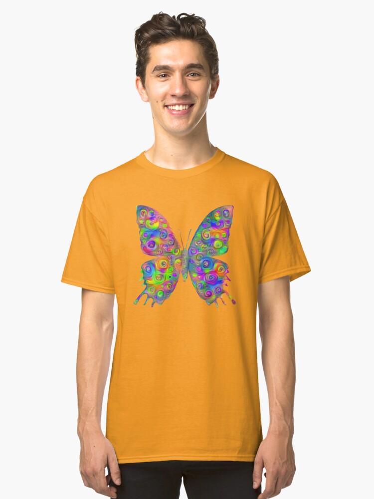 Alternate view of #DeepDream Motley Butterfly Classic T-Shirt