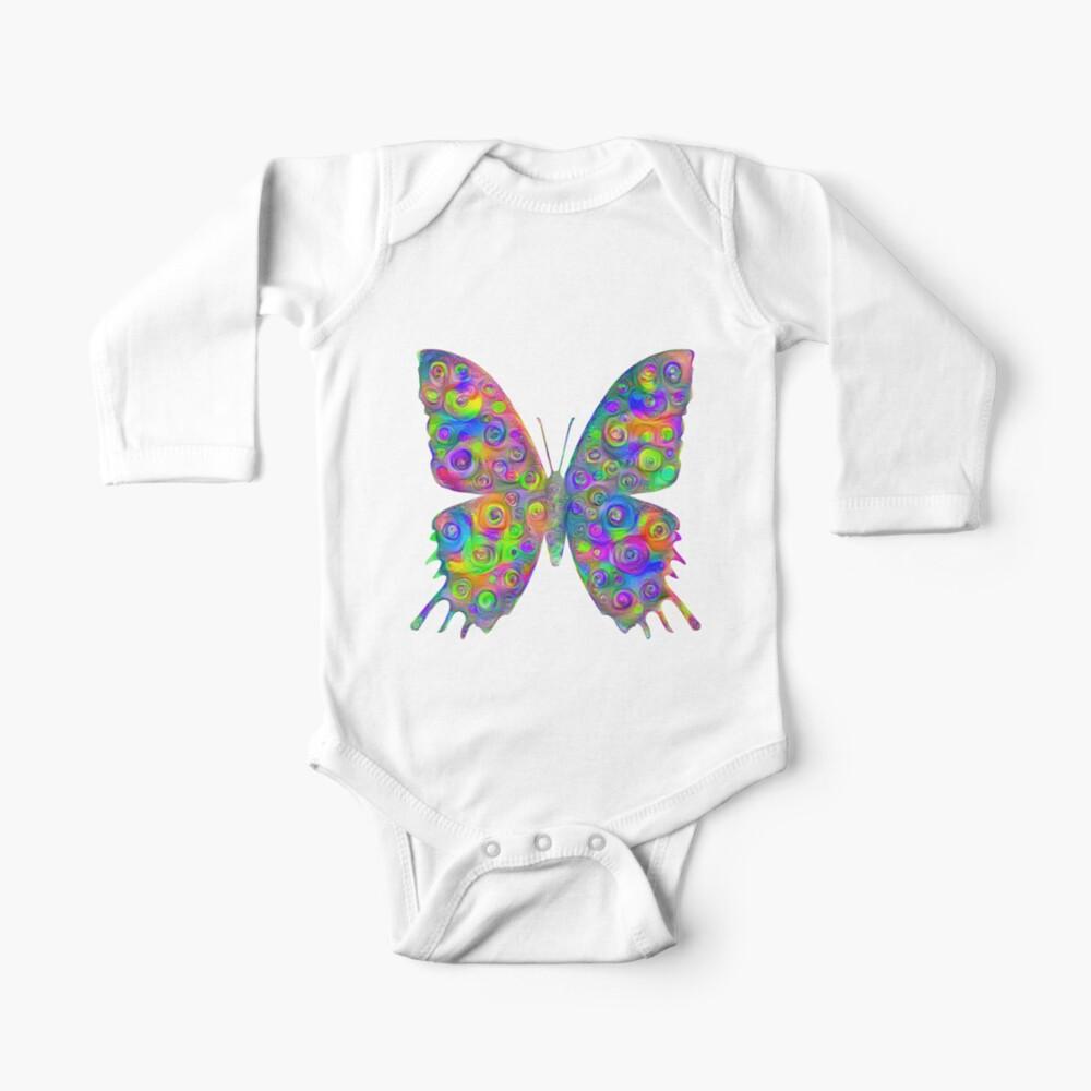 #DeepDream Motley Butterfly Baby One-Piece