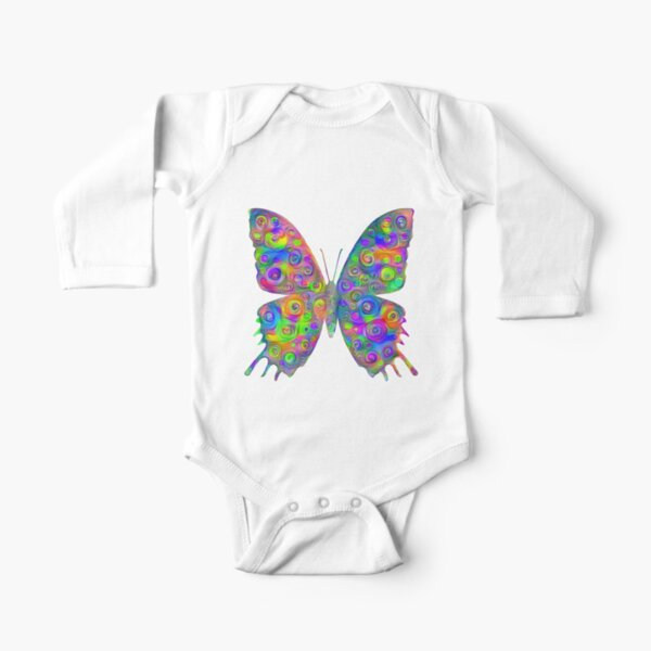 #DeepDream Motley Butterfly Long Sleeve Baby One-Piece
